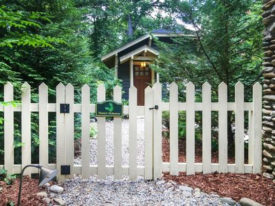 """Photo for Newly constructed Craftsman Cottage surrounded by quiet """"secret garden"""" backyard"""