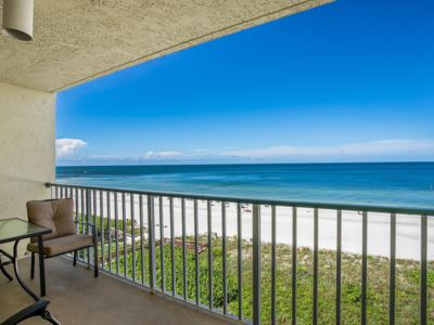 Photo for WOW...fabulous Gulf views of the beach and sunset!  Nice updated unit with casual decor