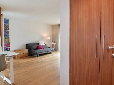 Photo for Modern, bright 1 1/2 room apartment with 1 balcony in sunny and quiet location i