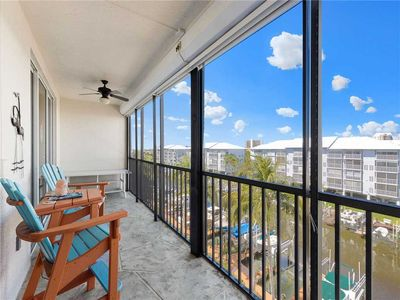 Relax. Unwind. Reset. - The balcony of Hibiscus Pointe 342 makes the perfect place to relax after a day on the beach.