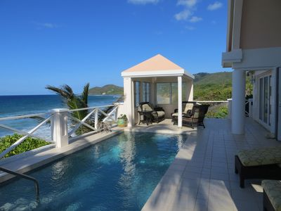 Beautiful back deck and relaxing plunge pool