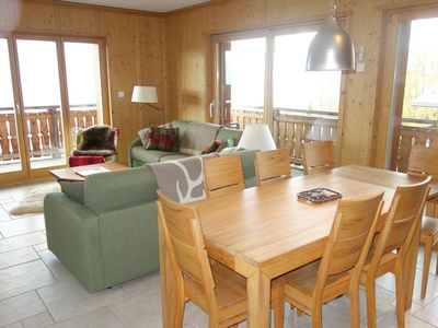 Photo for 4*, 2-bedroom-apartment for 4-6 people located directly on the ski slopes. Modern living room with f