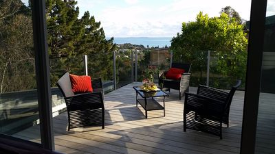 Photo for Modern free standing 3 bedroom home, quiet, central, gorgeous seaview, sleeps 6