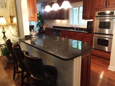 Kitchen Bar Counter with view into the Kitchen