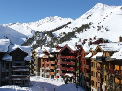 Photo for Fabulous Arc 1950 Apartment. Genuine Ski In-Ski Out. Balcony. Stunning Views