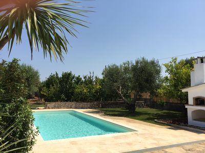 Photo for villa with trullo, tennis court and swimming pool from August from two to eight places