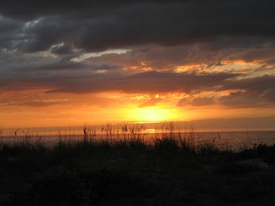 Sunset at our Gulf of Mexico beach.