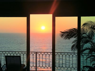 "Photo for OCEAN FRONT PENTHOUSE LEVEL ""WONDERFUL SUNSETS"" best price at $110 per night"