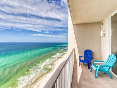 Photo for 24th floor Gulf views! Sleeps up to 8! 2 kings, a queen sleeper sofa and 2 bunks