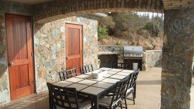 Outdoor dining and barbecue