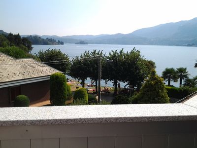Photo for NEW FLAT IN ELEGANT LAKEFRONT VILLA WITH LAKE ORTA AND SAN GIULIO ISLAND VIEW