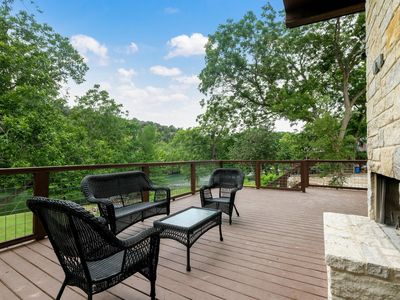 Photo for NEW 4BR/3BA RIVER HOME WITH 101' OF PRIVATE  GUADALUPE RIVER BANK