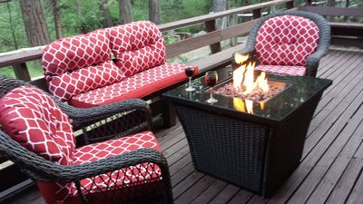 Kick back with a glass of wine. - Kick back with a glass of wine and enjoy hanging out in the pines.