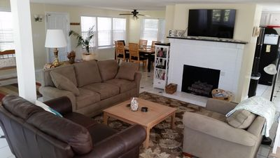 Photo for Spacious 3BR cozy house. Steps from the beach.  Includes a beach pass!