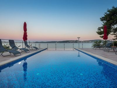 Photo for GEM OF THE SEA WITH BRAND NEW (2019)INFINITY POOL SPECTACULAR  BEACH APT. ANYA