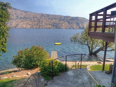 Photo for Lake Chelan Waterfront Cabin Pet Friendly, Private Waterfront, Affordable Rates