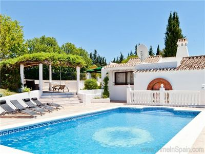 Photo for 3 bedroom rustic villa in large gardens with pool, Rural location 2 1/2 kms from Estepona