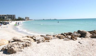 Beautiful Lido Beach, just 1/2 block down our quiet residential street