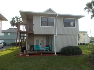 Three bedroom, fun, cottage just steps to the ocean/beach. Game room & all....