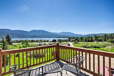 Bask in stunning views of Shadow Mountain Lake morning and night.