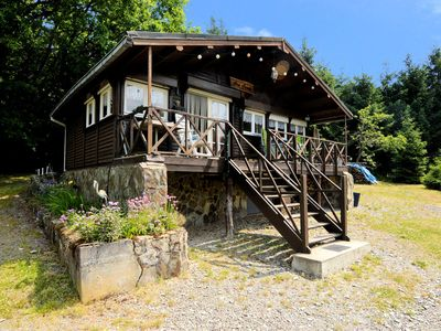 Photo for Small and cosy chalet in a quiet setting with a very large enclosed garden