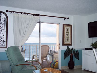 What a view! Sitting in the Living Room and view of the Gulf.