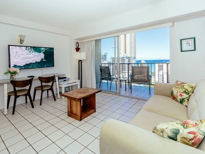 Photo for Professionally Sanitized*Ocean+City View from this Waikiki Condo+Free Parking