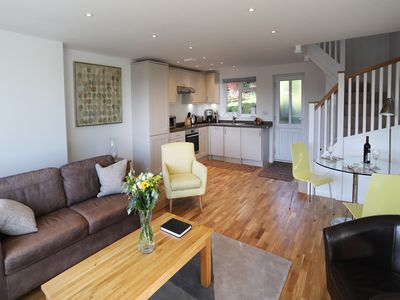 Photo for New purpose built, comfortable, one bed apartment walking distance of Marlow