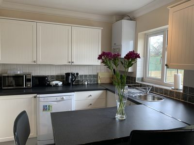 Photo for Lovely 3 bedroom house, sleeps up to 6 with parking