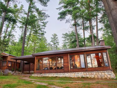 Photo for Beautiful Log Home on Historic Mattawa River (Lake Chantplein)