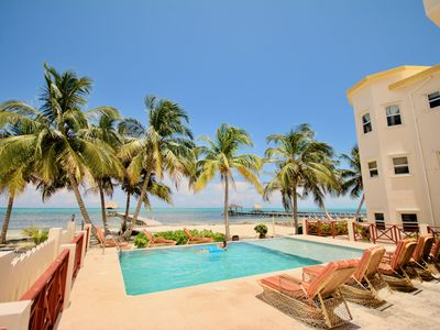 Photo for Miramar #2 🌴 Step right out to the beach! Pool, pier, palapa & more!