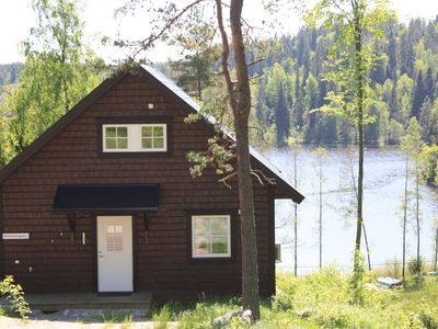 Photo for Fresh house with lovely lake view, incl. boat at own dock