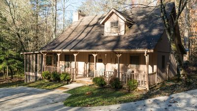 Photo for Sleeps 8, 3 Bedrooms, 3 Bath, 1 Sleeper Sofa, Screened in Porch, Trout Fishing with Privacy  Serenit
