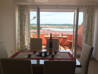 Photo for Apartment Lucefinka 3 with beautiful sea view,300m from beach away!