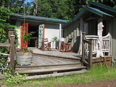 Main Porch Entrance to Cabin