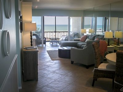 Photo for Top Floor Oceanfront View Of The #1 Beach In The USA! - Beautiful Decor!