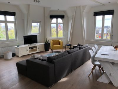 Photo for Central modern attic apt with amazing view