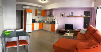 Photo for Modern 2 bedroom with terrace and roof terrace 200 meters from the beach in Mogan