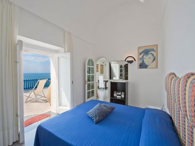 Photo for villa in praiano center at 10 minutes from the beach - parking - sea view