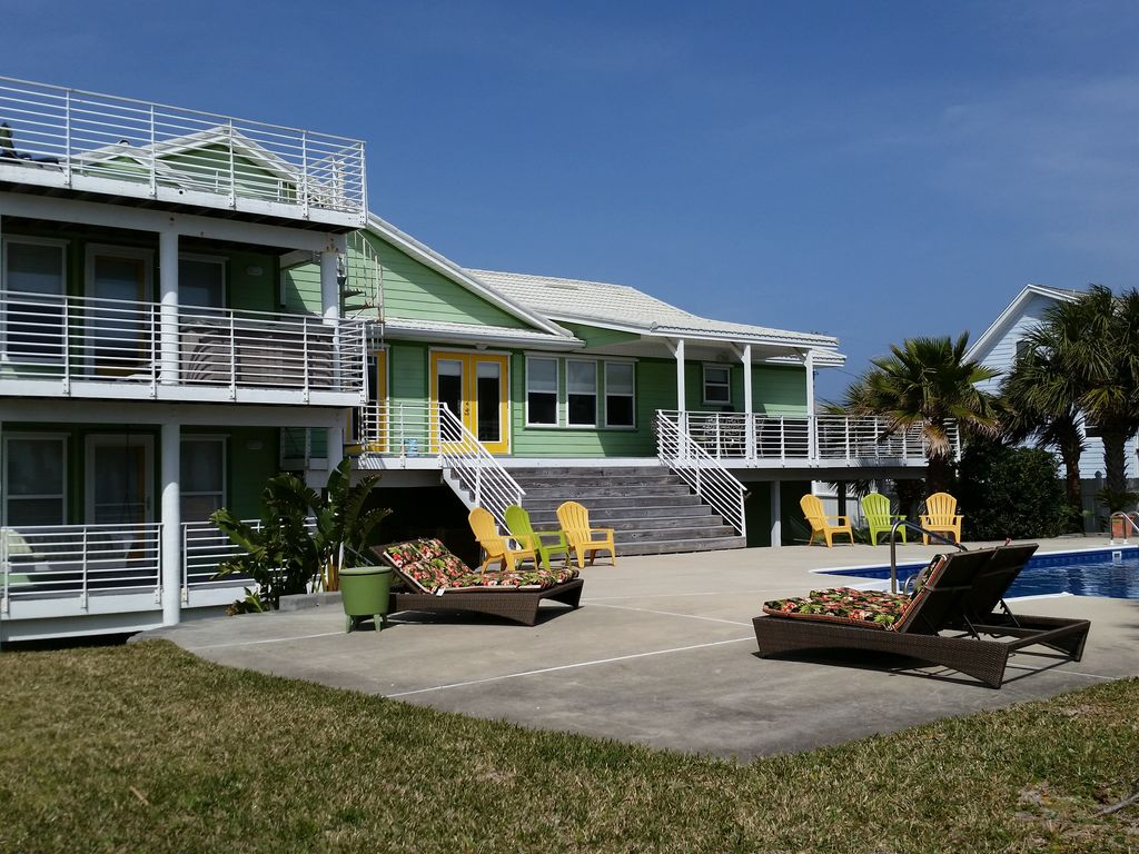 Tiki House Largest Heated Private Pool On The Beach Hot Tub Gulf Views