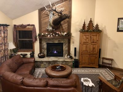 A Warm And Inviting Family Room After Skiing