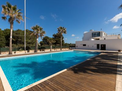 Photo for Beautiful Holiday Apartment Menorca Blue with Pool, Air Conditioning, Balcony & Terrace; Parking Available