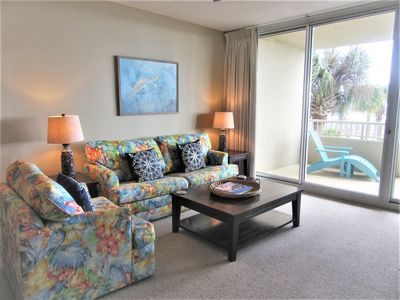Photo for Beach Club C205 King/Queen/Sofa, Direct Gulf View, Wifi, Right on the Beach!