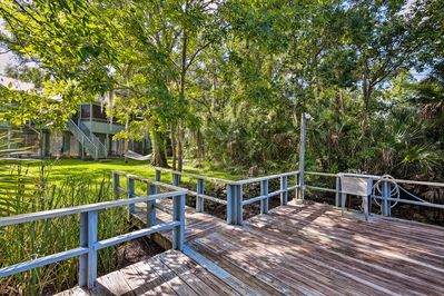 Get away to Crystal River, FL at this 2-bed, 2-bath house on a canal!