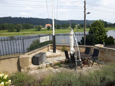 Photo for Villa on the River Elbe, large terrace with river view, private entrance, free Wi-Fi