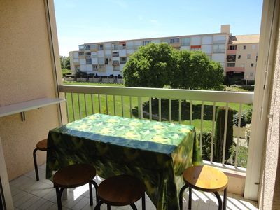 Photo for 2 rooms 4 beds view gardens at Grau du Roi