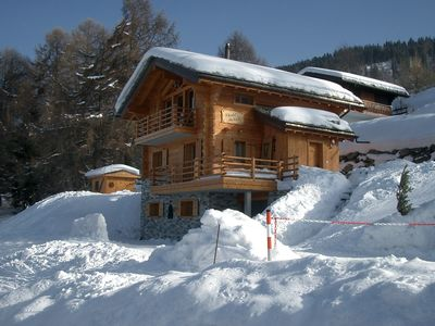 Photo for Luxury chalet (Wallis) directly on the slope, outdoor sauna, stunning view