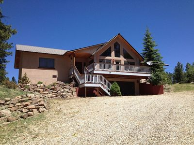 Photo for BEAUTIFUL MOUNTAIN HOME WITH VIEWS, STEPS FROM ANGEL FIRE RESORT