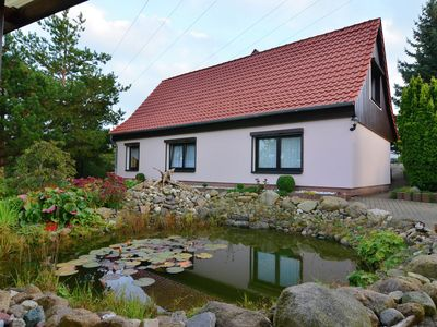 Photo for Apartment in the Harz with a log cabin, pond and covered seating area