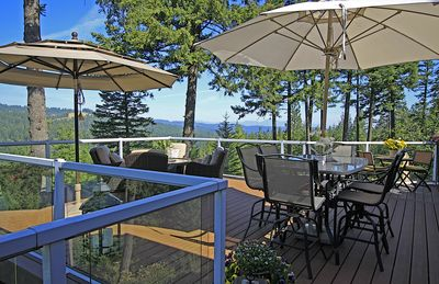 Breathtaking panoramic views from back of property.